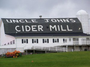 Off of U.S. 127 between Lansing and Mt. Pleasant, Uncle John's Cider Mill provides a romantic destination to take a blind date and her accompanying foul-mouthed offspring.
