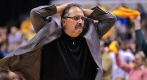 Despite no previous front-office experience, Stan Van Gundy will be introduced as the Pistons' president of basketball operations this week. (Photo credit: AP)